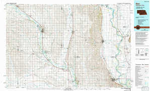 Blair topographical map