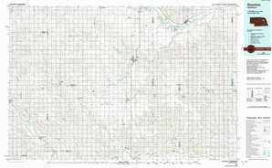 Stanton topographical map