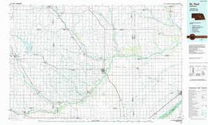 Saint Paul topographical map