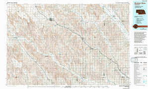 Broken Bow topographical map