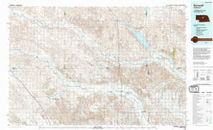 Burwell topographical map