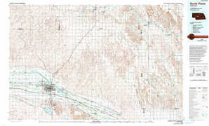 North Platte topographical map