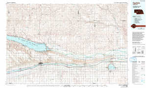 Ogallala topographical map
