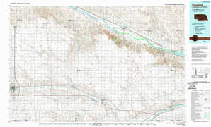 Chappell topographical map