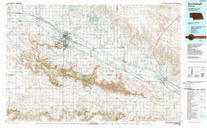 Scottsbluff topographical map