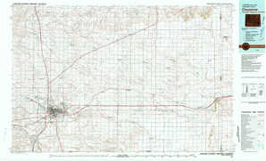 Cheyenne topographical map