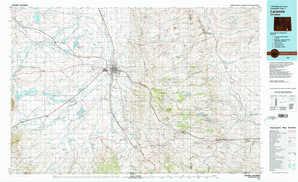 Laramie topographical map