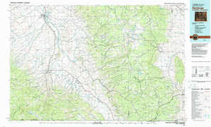 Saratoga topographical map