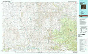 Baggs topographical map