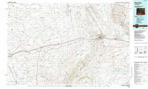 Rawlins topographical map