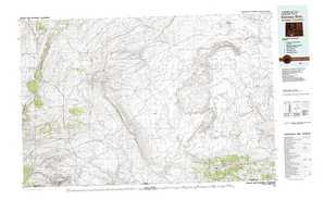 Kinney Rim topographical map