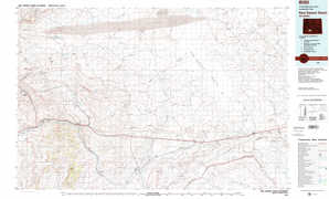 Red Desert Basin topographical map