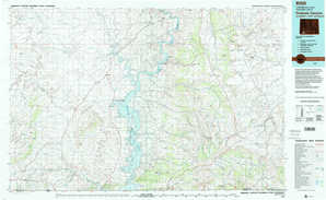 Firehole Canyon topographical map
