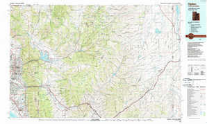Ogden topographical map
