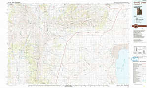 Grouse Creek topographical map