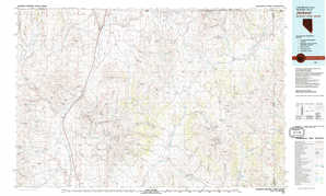 Jackpot topographical map