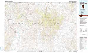 Jarbidge Mountains topographical map