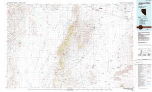 Jackson Mountains topographical map