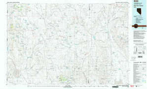 High Rock Canyon topographical map