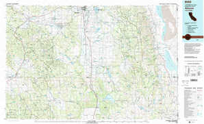 Alturas topographical map
