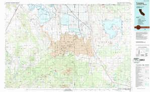 Tulelake topographical map