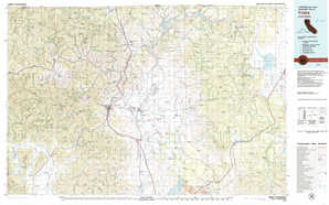 Yreka topographical map