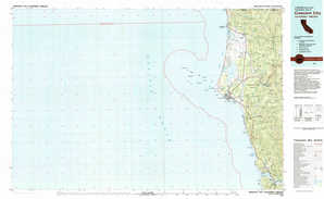 Crescent City topographical map