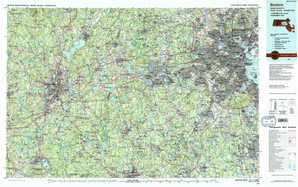 Boston topographical map