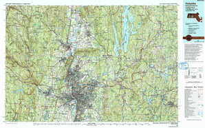 Holyoke topographical map