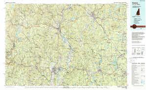 Keene topographical map