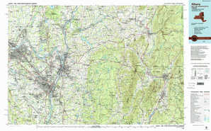 Albany topographical map