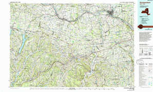 Amsterdam topographical map