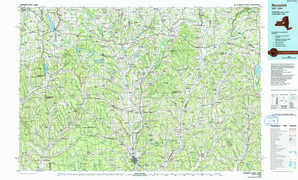 Norwich topographical map
