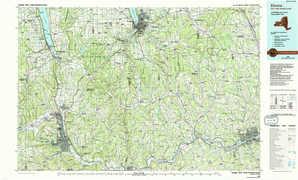 Elmira topographical map
