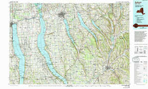 Auburn topographical map