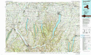 Canandaigua topographical map