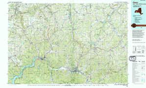 Olean topographical map
