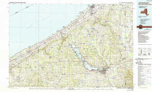 Jamestown topographical map