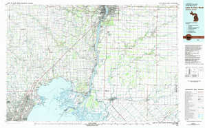 Lake Saint Clair North topographical map