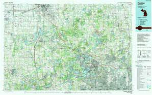 Pontiac topographical map