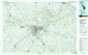 Lansing 1:250,000 scale USGS topographic map 42084e1