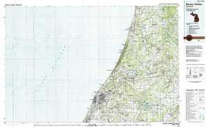 Benton Harbor topographical map