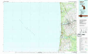 Holland topographical map