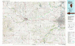 Rockford topographical map