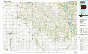Oelwein topographical map