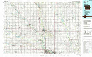 Waverly 1:250,000 scale USGS topographic map 42092e1