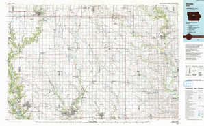 Ames 1:250,000 scale USGS topographic map 42093a1
