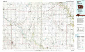 Carroll topographical map