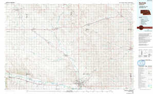 Norfolk topographical map