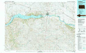 Yankton topographical map